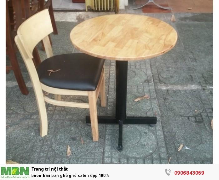 Buôn bán bàn ghế ghỗ cabin đẹp 100%1
