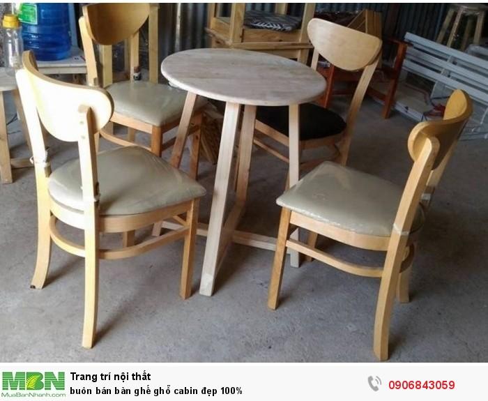 Buôn bán bàn ghế ghỗ cabin đẹp 100%3