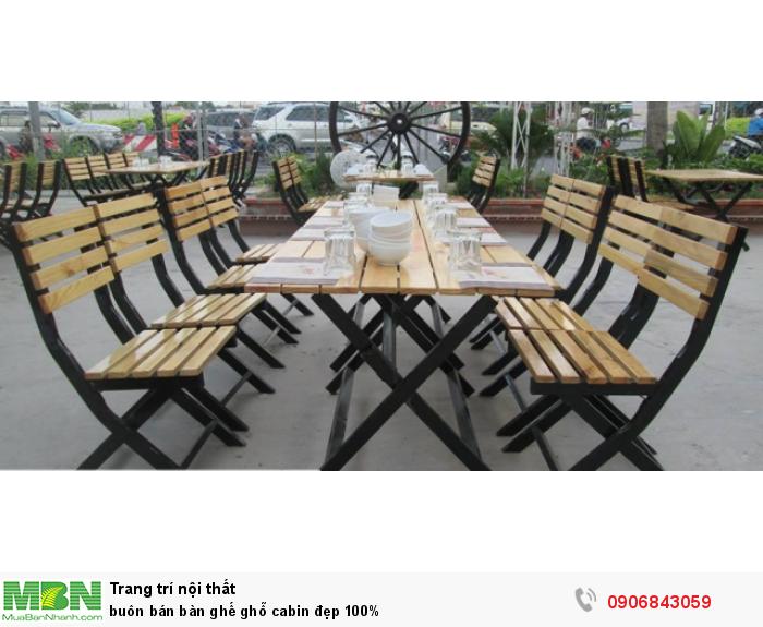 Buôn bán bàn ghế ghỗ cabin đẹp 100%5