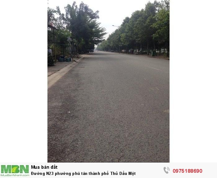 Đường N23 phường Phú Tân thành phố Thủ Dầu Một
