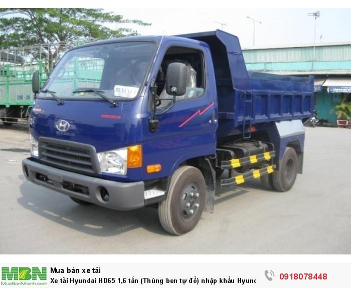 Xe tải Hyundai HD65 1,6 tấn (Thùng ben tự đổ) nhập khẩu Hyundai Hàn Quốc - Gía ưu đãi
