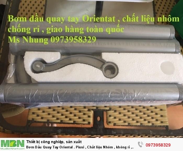 Bơm Dầu Quay Tay Oriental . Piusi , Chất liệu Nhôm , không rỉ , bơm xăng , dầu2
