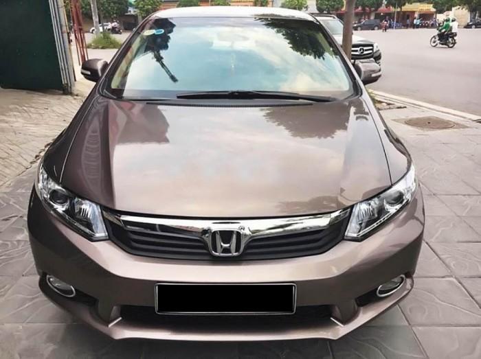 Bán xe HONDA Civic 2014, màu nâu nội thất kem, máy 1.8AT, Chỉ 200 triệu nhận xe