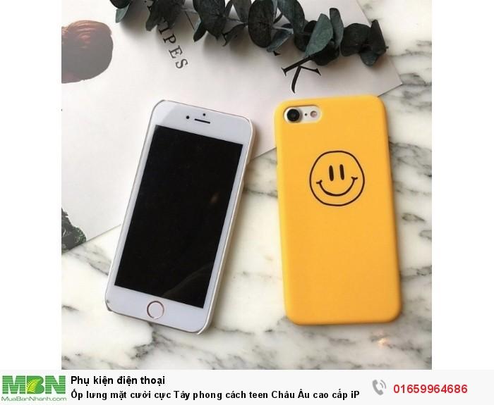 Ốp lưng mặt cười cực Tây phong cách teen Châu Âu cao cấp iPhone 7