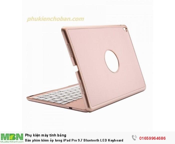 Bàn phím kiêm ốp lưng iPad Pro 9.7 Bluetooth LED Keyboard1