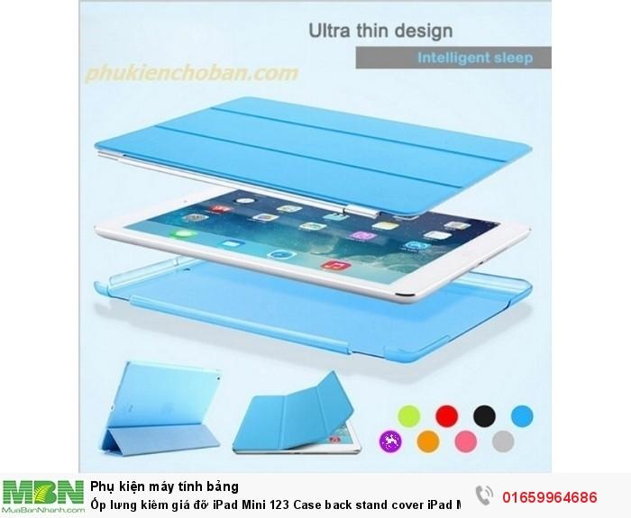 Ốp lưng kiêm giá đỡ iPad Mini 123 Case back stand cover iPad Mini 1235