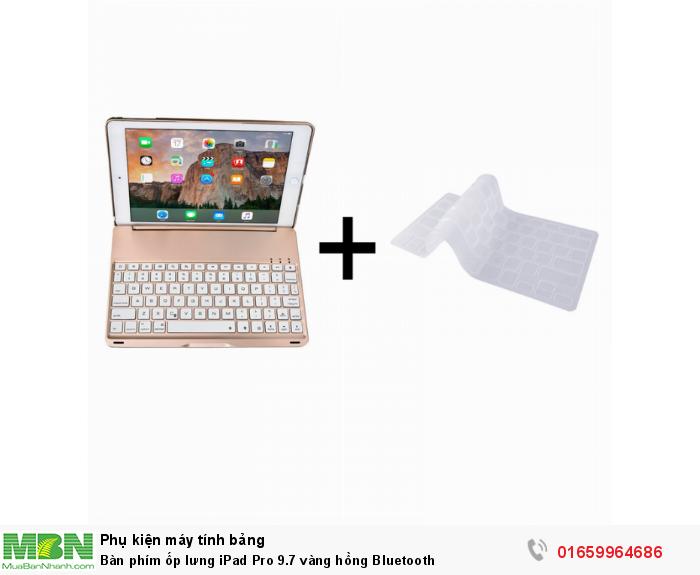 Bàn phím ốp lưng iPad Pro 9.7 vàng hồng Bluetooth0