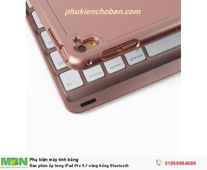 Bàn phím ốp lưng iPad Pro 9.7 vàng hồng Bluetooth1