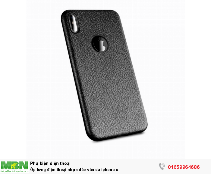 Ốp lưng điện thoại nhựa dẻo vân da iphone x