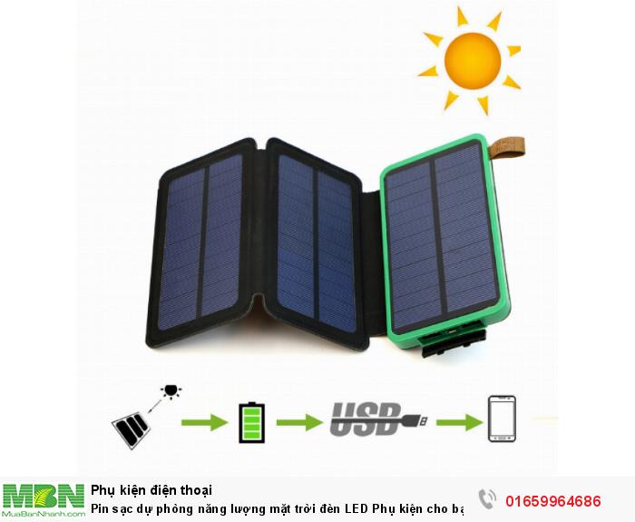 Pin sạc dự phòng năng lượng mặt trời đèn LED Phụ kiện cho bạn cao cấp