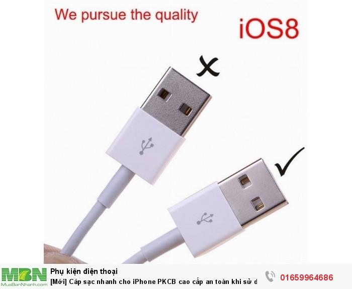 [Mới] Cáp sạc nhanh cho iPhone PKCB cao cấp an toàn khi sử dụng