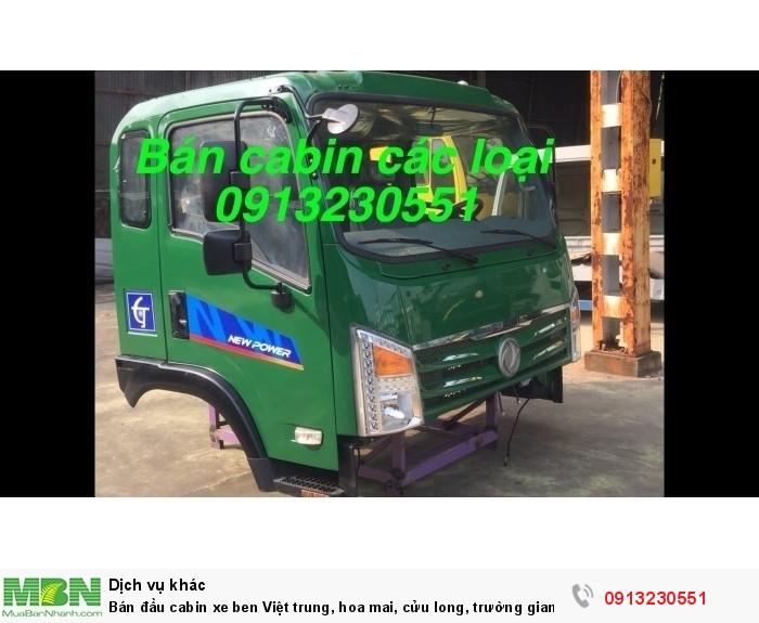 Bán đầu cabin xe ben Việt trung, hoa mai, cửu long, trường giang, Việt trung, dongfeng, vinaxuki, jac