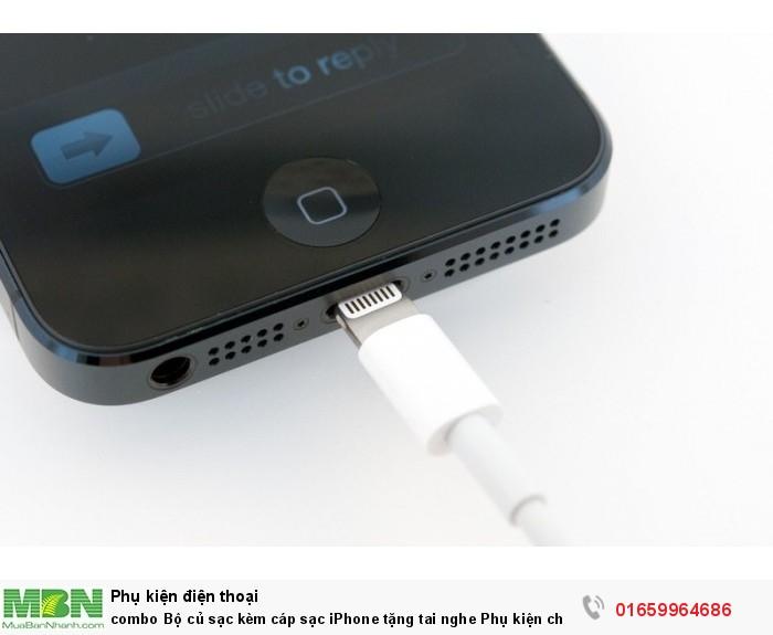 combo Bộ củ sạc kèm cáp sạc iPhone tặng tai nghe Phụ kiện cho bạn