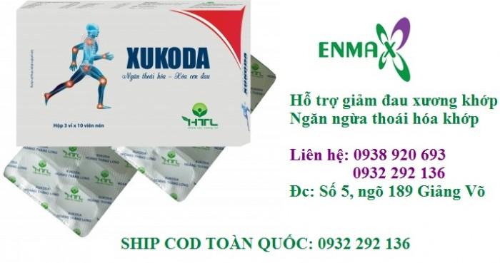 Viên bổ xương khớp Xukoda giúp giảm đau nhức khớp do viêm khớp, thoái hóa khớp. thấp khớp. Xukoda chính hãng có bán tại cửa hàng Enmax, số 5, ngõ 189 Giảng Võ0