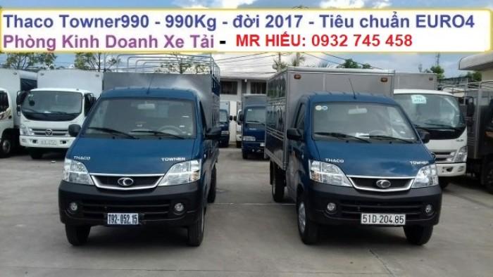 Bán xe tải Towner tải trọng 990 kg chạy trong thành phố. Tiêu chuẩn khí thải euro 4