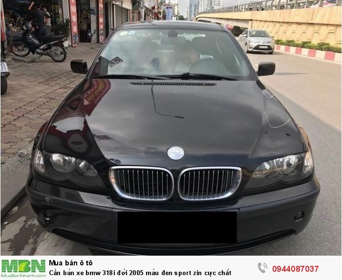 Cần bán xe bmw 318i đời 2005 màu đen sport zin cực chất
