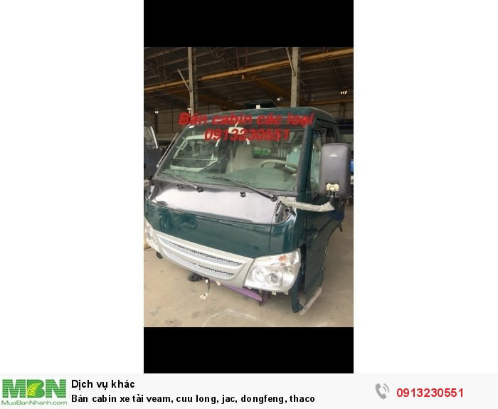 Bán cabin xe tải veam, cuu long, jac, dongfeng, thaco