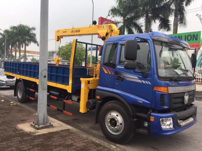 Xe tải Thaco Auman 2 chân C160 gắn cẩu 5 tấn 3 đốt soosan513