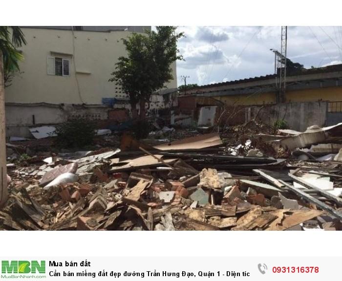 Cần bán miếng đất đẹp đường Trần Hưng Đạo, Quận 1 - Diện tích: 236,7m2