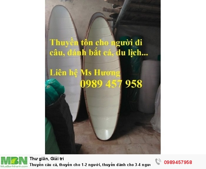 Thuyền câu cá, thuyền tôn cho 1-2 người, Thuyền tôn hái sen cho 3 người giá rẻ2