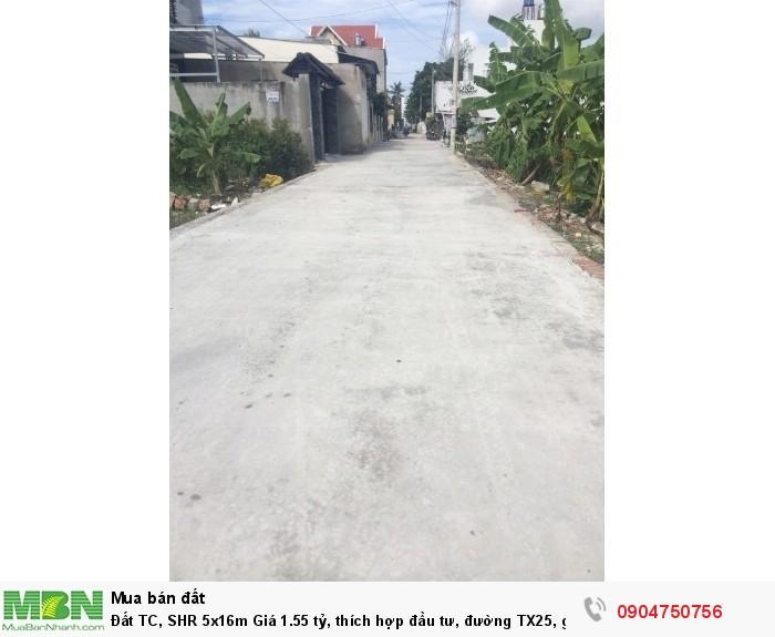 Đất TC, SHR 5x16m thích hợp đầu tư, đường TX25, gần UBND P Thạnh Xuân