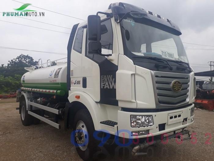 Xe tải FAW 7.8 tấn thùng dài 9.8 mét gắn cẩu Tadano 5 tấn 4 khúc 2