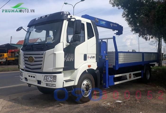 Xe tải FAW 7.8 tấn thùng dài 9.8 mét gắn cẩu Tadano 5 tấn 4 khúc 1