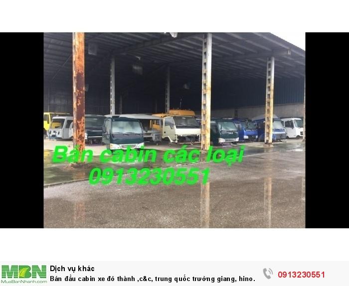 Bán đầu cabin xe đô thành, huyndai, jac, vinaxuki, cuu long, thaco, chenglong, Việt trung