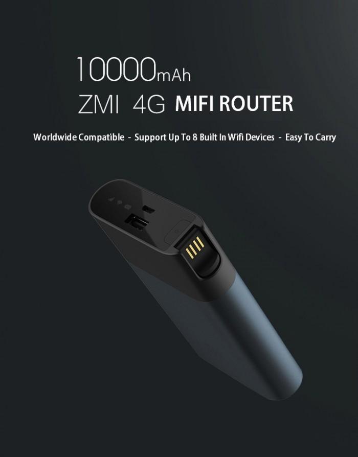 Sạc dự phòng kiêm phát wifi ZMI 10.000 mAh