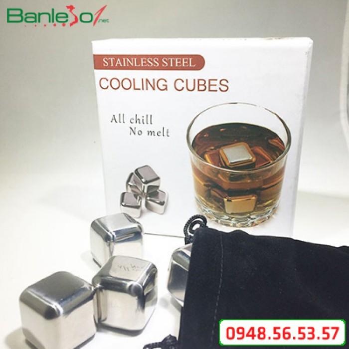Đá lạnh không tan Cooling Cubes Stainless Steel 8 viên -  Giữ nguyên hương vị đồ uống
