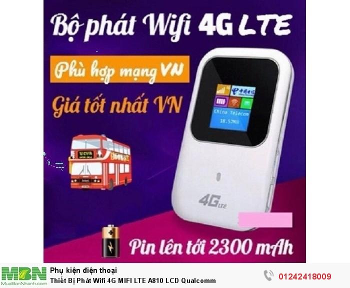 Thiết Bị Phát Wifi 4G MIFI LTE A810 LCD Qualcomm