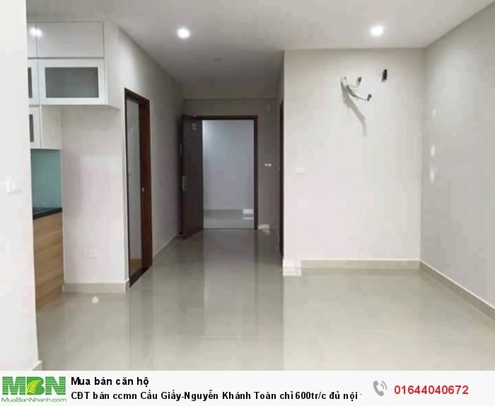 CĐT bán ccmn Cầu Giấy - Nguyễn Khánh Toàn chỉ 600tr/c đủ nội thất,ở ngay