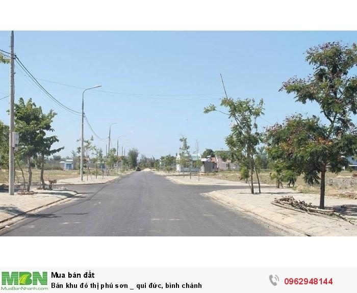 Bán khu đô thị Phú Sơn, Qui Đức, Bình Chánh