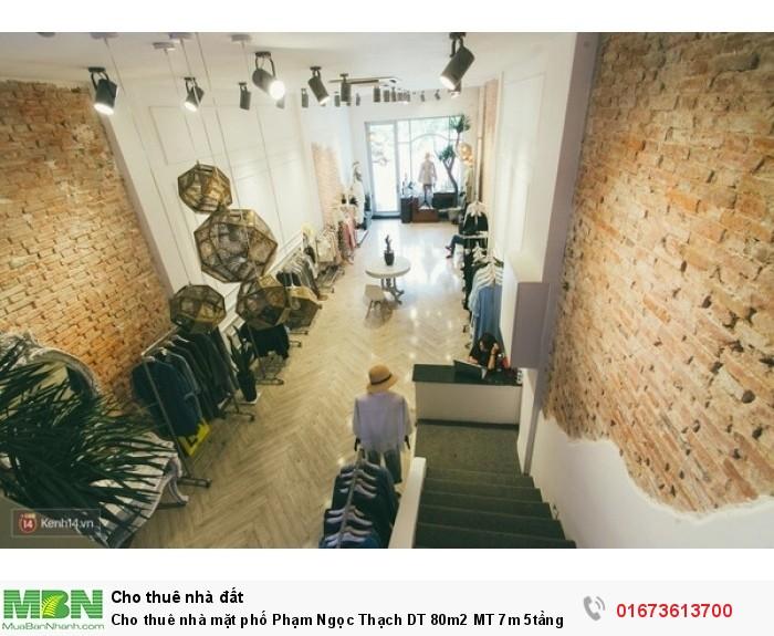 Cho thuê nhà mặt phố Phạm Ngọc Thạch DT 80m2 MT 7m 5tầng