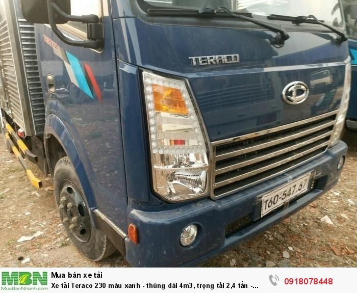Xe tải Teraco 230 màu xanh -  thùng dài 4m3, trọng tải 2,4 tấn - KM giá ưu đãi