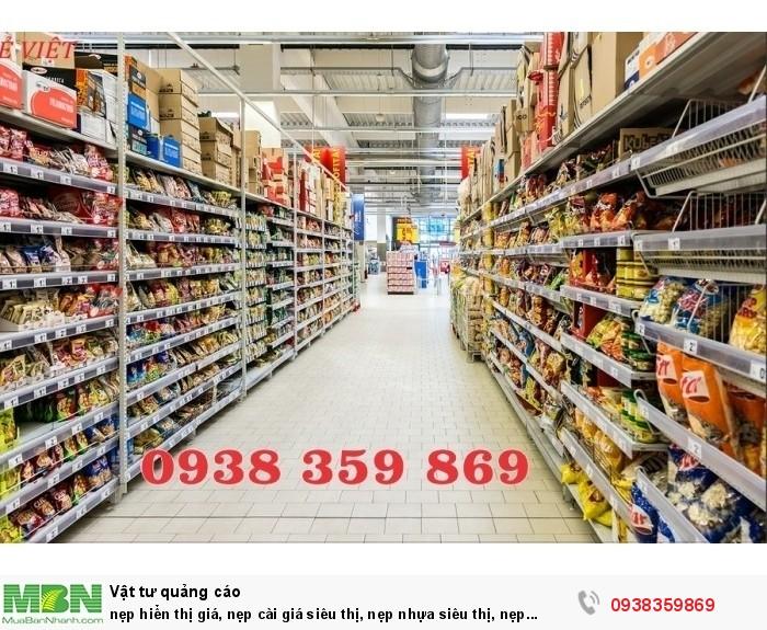nẹp hiển thị giá, nẹp cài giá siêu thị, nẹp nhựa siêu thị, nẹp bảng giá siêu thị