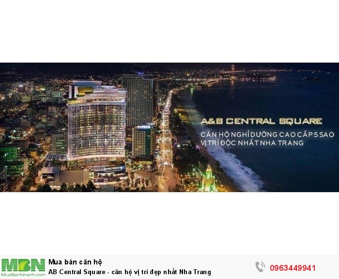 AB Central Square  - căn hộ vị trí đẹp nhất Nha Trang