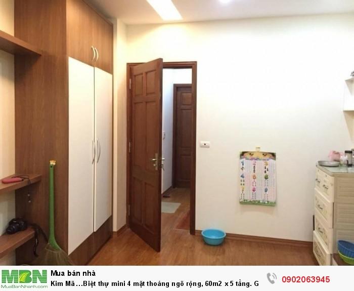 Kim Mã …Biệt thự mini 4 mặt thoáng ngõ rộng, 60m2 x 5 tầng.