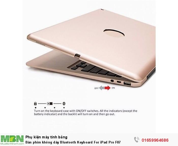 Bàn phím không dây Bluetooth Keyboard For iPad Pro F072