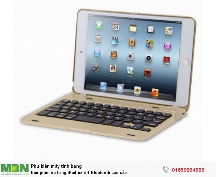 Bàn phím ốp lưng iPad mini 4 Bluetooth cao cấp4