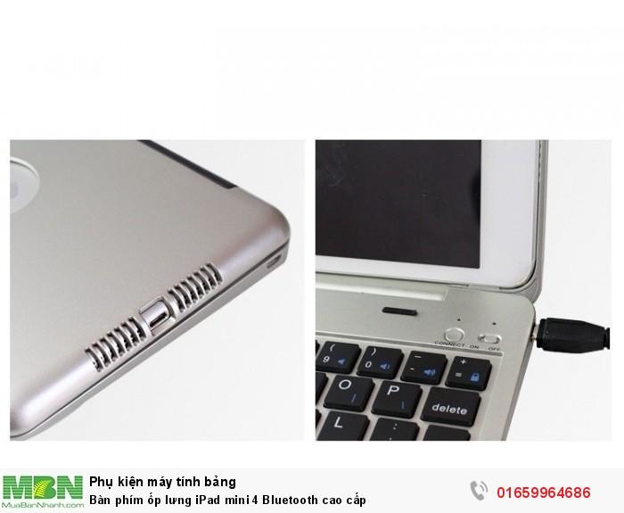 Bàn phím ốp lưng iPad mini 4 Bluetooth cao cấp8