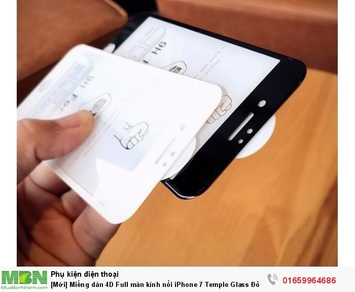 Miếng dán 4D Full màn kính nổi iPhone 7 Temple Glass Đỏ