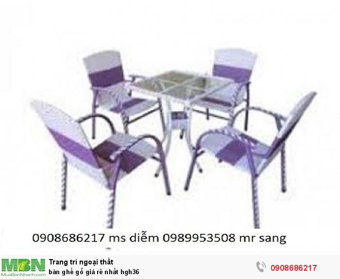 Bàn ghế gỗ giá rẻ nhất hgh361