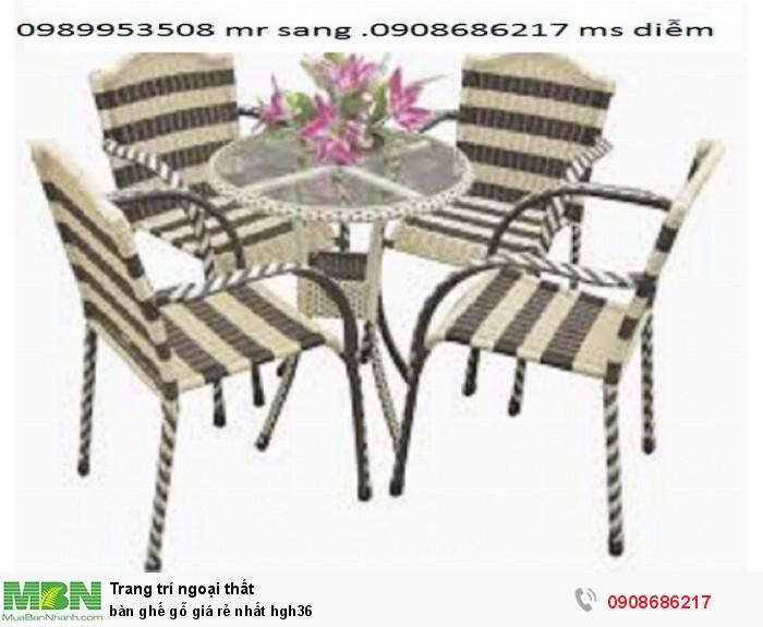 Bàn ghế gỗ giá rẻ nhất hgh362