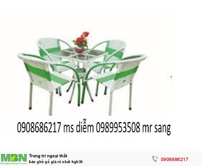 Bàn ghế gỗ giá rẻ nhất hgh363
