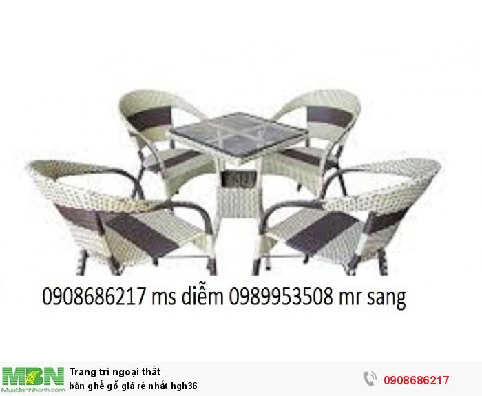 Bàn ghế gỗ giá rẻ nhất hgh364