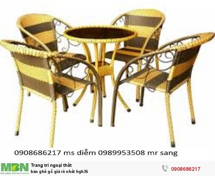 Bàn ghế gỗ giá rẻ nhất hgh365