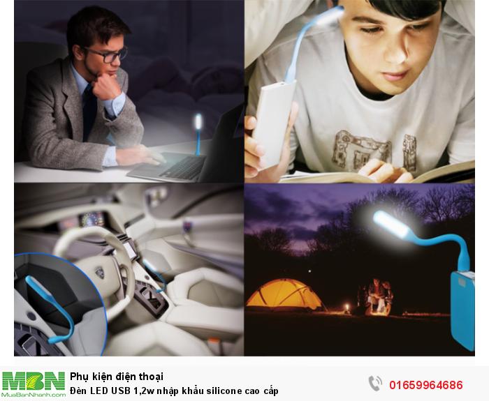 Đèn LED USB 1,2w nhập khẩu silicone cao cấp