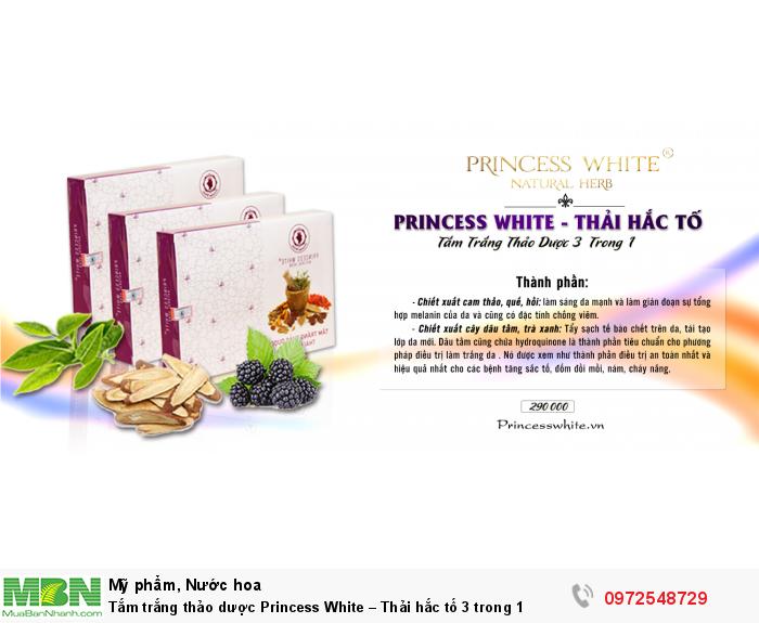 Tắm trắng thảo dược Princess White – Thải hắc tố 3 trong 1