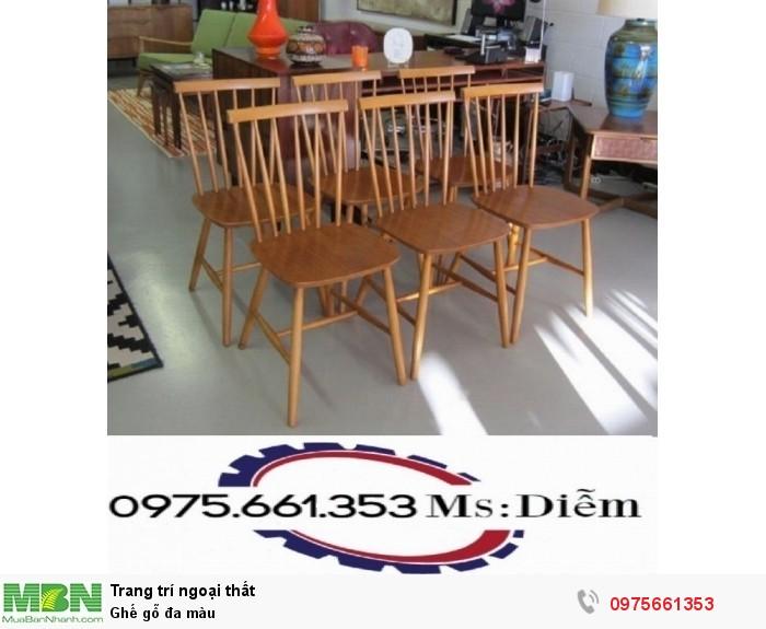 Ghế gỗ đa màu1